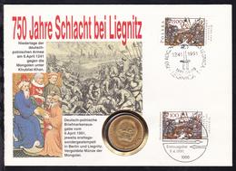 Numisbrief 750 Jahre Schlacht Bei Liegnitz  - BRD