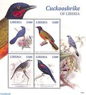 Liberia 2019 Cuckooshrike Of Liberia 4v M/s, (Mint NH), Birds - Liberia