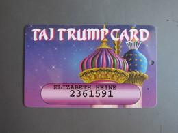 Trump Mahal Casino TAJ Card Card,edge Tiny Damaged - Casino Cards