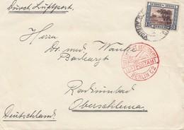 South Africa 1934: S.W.A, Farm Alabama To Oberschlema - Luftpostamt Berlin - África Del Sur (1961-...)