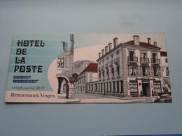 Hôtel DE LA POSTE Remiremont-Vosges ( Imp. P. Buriot Fougerolles ) Depliant Format 22 X 9,5 Cm. ( Voir/zie Foto's ) ! - Toeristische Brochures