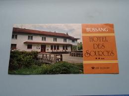 BUSSANG Hôtel DES SOURCES **NN ( Imp. A.P.E. Aix-en-Provence ) Depliant Format 20 X 10 Cm. ( Voir/zie Foto's ) ! - Dépliants Touristiques
