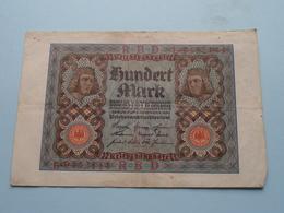 Hundert Mark - Berlin, Den 1 November 1920 ( N° L 9452144 ) ( Voir/zie Foto's ) ! - [ 3] 1918-1933 : República De Weimar