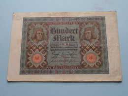 Hundert Mark - Berlin, Den 1 November 1920 ( N° K 11341311 ) ( Voir/zie Foto's ) ! - [ 3] 1918-1933 : Repubblica  Di Weimar