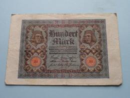 Hundert Mark - Berlin, Den 1 November 1920 ( N° J 6979684 ) ( Voir/zie Foto's ) ! - 100 Mark