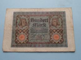 Hundert Mark - Berlin, Den 1 November 1920 ( N° K 18939143 ) ( Voir/zie Foto's ) ! - [ 3] 1918-1933 : Repubblica  Di Weimar