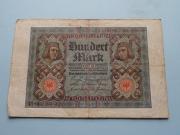 Hundert Mark - Berlin, Den 1 November 1920 ( N° H 1754926 ) ( Voir/zie Foto's ) ! - [ 3] 1918-1933 : Repubblica  Di Weimar