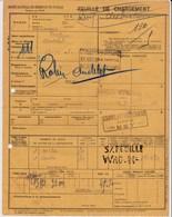 Chemins De Fer De L'Est - 1 Document Transport Marchandises De Verdun (55) à Andelot (52) - 27 Octobre 1938 - Transport