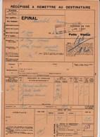 Chemins De Fers De L'Est - 2 Documents Transport Marchandises De Epinal (88) à Andelot (52) - Année 1938 - Transport