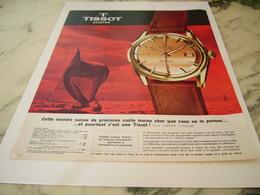 ANCIENNE PUBLICITE  MONTRE TISSOT SEASTER 1963 - Joyas & Relojería