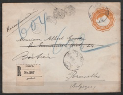 Egypte - EP 2p Recommandé Du Consulat Belge Au Caire Càd CAIRO /15.III.1910 Pour BRUXELLES (au Dos: Càd Oval BRUXELLES ( - Non Classificati