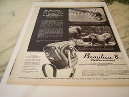 ANCIENNE  PUBLICITE CAMERA  LA  BEAULIEU   1963 - Autres Collections