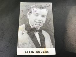 ALAIN BOULMÉ Dédicace - Autographs