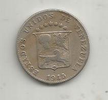 Monnaie , Estados Unidos De VENEZUELA ,  12 1/2 Centimos,  1945,  2 Scans - Venezuela