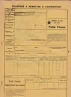 Chemins De Fer De L'Est & SNCF - 3 Documents Transport Marchandises De Andelot (52) à Crouy (02) - Années 1937 à 1939 - Transport