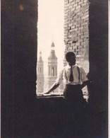 SARAGOSSE ZARAGOZA Vue Prise à Partir De La SEO Octobre 1930 Photo Amateur Format Environ 7,5 Cm X 5,5 Cm - Lieux