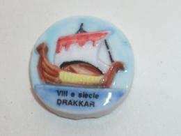 Pin's FEVE, DRAKKAR DU VIII° SIECLE - Bateaux