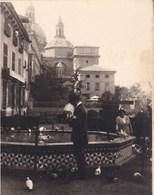 SARAGOSSE ZARAGOZA Les Pigeons Octobre 1930 Photo Amateur Format Environ 7,5 Cm X 5,5 Cm - Lieux
