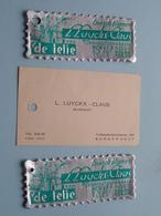 Visitekaartje E.a. > L. LUYCKX - CLAUS Bloemist Te BORGERHOUT Turnhoutsebaan 330 > DE LELIE ( Zie Foto's Voor Detail ) ! - B. Piante Fiorite & Fiori