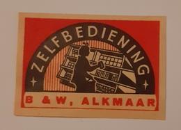 B & W ALKMAR - Matchbox Labels