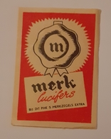 MERK LUCIFERS - Cajas De Cerillas - Etiquetas