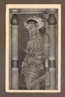 Wall Painting Of Maya From The Historic Cave Temples Of Ajanta At Aurangabad, India, Lot # IND 257 - India