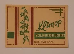 KLIMOP - Cajas De Cerillas - Etiquetas