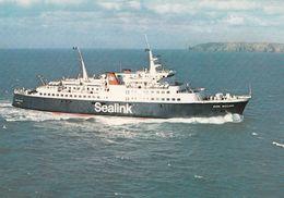 Sealink Earl William Ship Postcard - Ships