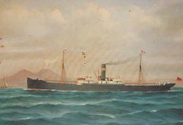 The Snowdon Charles Radcliffe Welsh Trawler Cruise Liner Ship Painting Postcard - Ships