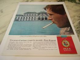 ANCIENNE PUBLICITE  CHATEAU DE BELVEDERE NOUVEL AROME CIGARETTE PEER EXPORT 1963 - Tabac (objets Liés)