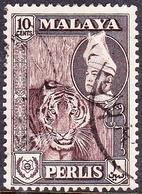 MALAYA PERLIS 1957 1c Deep Brown SG34 Fine Used - Perlis