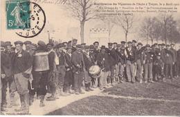 BAC19- TROYES  DANS L'AUBE  MANIFESTATIONS DES VIGNERONS  UN GROUPE DU BATAILLON DE FER     CPA  CIRCULEE - Troyes