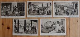 La Vie Grecque - 9 CPA / Images Fernand Nathan - Obsèques Athéniennes - Auberge - Navire ... Grêce Antique - (n°15176) - Historia