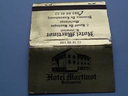 MARTELANGE Route De Bastogne Hotel MARTINOT Restaurant ( Universal Match St. Louis USA > Voir Photo ) ! - Cajas De Cerillas (fósforos)