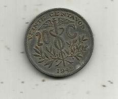 Monnaie , Bolivie ,  BOLIVIA ,  20 Centavos , 1942 ,  2 Scans - Bolivie
