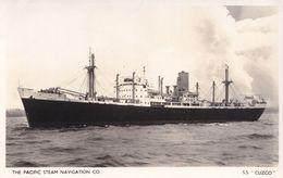 SS Cuzco Pacific Steam Navigation Company Ship Old RPC Postcard - Boten