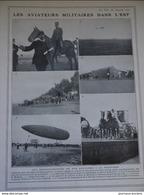 1912 LES AVIATEURS MIITAIRE DANS L'EST - LTN ROSE - LTN DE MONTJOUE - LTN DE MALHERBE - ADJUDANT DE VINENOT À LUNEVILLE - Libros, Revistas, Cómics
