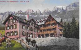 """AK 0273  Flums - Kurhaus """" Alp Gamperdon """" Um 1913 - SG St. Gall"""
