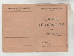 CARTE D'IDENTITE N°97 DU 8/03/1950 COMMISSAIRE DE POISSY TIMBRES FISCAUX 50 ET 8 FRANCS - Karten