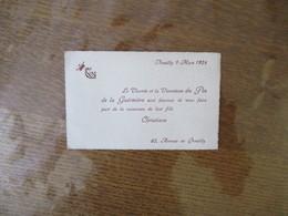 NEUILLY 9 MARS 1924 LE VICOMTE ET LA VICOMTESSE DU PIN DE LA GUERIVIERE SONT HEUREUX DE VOUS FAIRE PART DE LA NAISSANCE - Naissance & Baptême