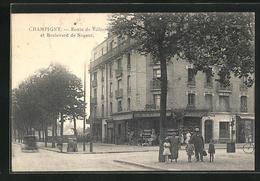 CPA Champigny, Route De Villiers Et Boulevard De Nogent - Francia