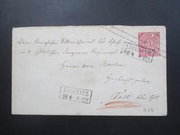 Altdeutschland NDP 1868 GA Umschlag U1 Ab Stempel Ra2 Liegnitz (2x) Rückseitig 2 Ausgabe Stempel - North German Conf.