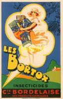 Publicité, Belle Carte Illustrée Pour Les Insecticides Bortox De La Compagnis Bordelaise Des Produits Chimiques - Publicité