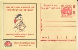 India 2005  Breast Feeding Postal Stationary Post Card # 20279   D   Inde Indien - Medicine