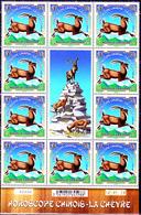 Nouvelle Calédonie 2015 Année De La Chèvre ( Bloc De 10 Avec Vignette Numéroté Et Date ) - Nuevos