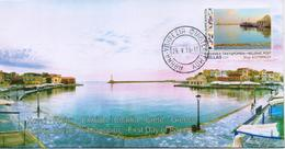 GREECE(A)FDC 2019/ CHANIA CRETE--STAMP FROM SELF ADHESIVE BOOKLET - FDC