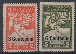 OOSTENRIJK - Michel - 1918 - Nr 24/25 - MH* - Levant Autrichien