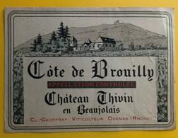 10858 - Côtes De Brouilly Château Thivin - Beaujolais