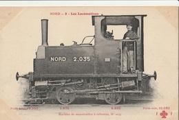 LOCOMOTIVES - Cie Du Nord - Machine De Manutention à Cabestan N° 2035 - Trains