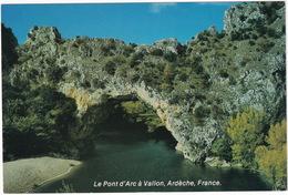 Le Pont D'Arc à Vallon, Ardèche, France ('Winkler Prins 80' Encyclopedie Reclame Kaart - Nationale Boekhandel, Soest) - Vallon Pont D'Arc